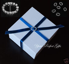 24 OVAL Wedding Diamante Invitation Rhinestone Buckles