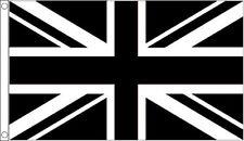 3' x 2' Black and White Union Jack Flag Sport Team Club Banner