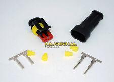 AMP SUPERSEAL 2 PÔLE Fiche + douille connecteurs imperméable Joint jaune