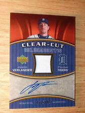 2007 UD AUTO 72/199 SILVER CCE-JV JUSTIN VERLANDER Baseball Card DETROIT TIGERS!