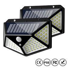 New listing 2pcs 100 Led Solar Waterproof Power Pir Motion Sensor Wall Light Outdoor Lamp