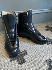 Vintage Riedell Sz 6 Black Leather Skating Boot For Roller Or Ice Skating