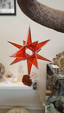 MORAVIAN STAR Stained Glass Christmas Ornament/Suncatcher/Favor