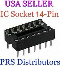 IC SOCKET 14-Pin DIP Solder Type PC Mount 14 Pin IC Socket 10 Pieces USA SELLER