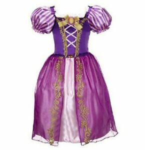 Kids Rapunzel Dress Sophia Dress Up Disguise Child Cosplay Costume Rapunzel Wig