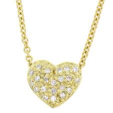 NUOVA 14k oro giallo .50ctw reversibile pavé di diamanti gonfio