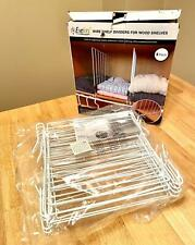 New listing Evelots Wire Shelf Dividers For Wood Shelves Set of 8 Closet Organizers