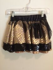 Monster High Girls Youth Costume Skirt Size Small Gold And Black