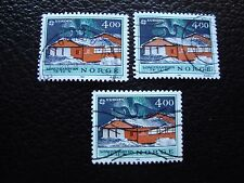 NORVEGE - timbre yvert et tellier n° 1006 x3 obl (A04) stamp norway (Z)