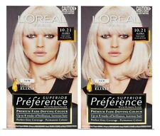 2 X L'Oreal SUPERIOR PREFERENCE PERMANENT HAIR COLOUR 10.21 ALASKA -NEW