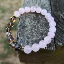 'Harmony in Pink' Healing Crystals Bracelet Rose Quartz Smoqy Quartz Natural Sto