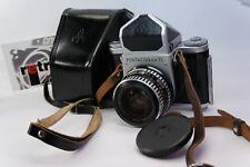 Pentacon Six 6 TL Film Camera #66507 w/ Carl Zeiss f2.8/80mm lens,case,EX! TEST
