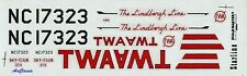 """Decals: 1/150 Douglas DC-3 TWA """"The Lindbergh Line"""" by Scale-Master"""