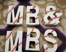 Mr & Mrs Center Piece Table Wedding Decoration Sign Wooden Letters 9in Tall