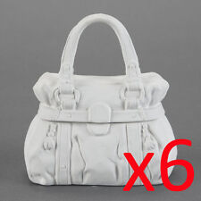 Ceramic Bisque Kids Party Plaster Painting Figurine - Handbag Trinket Box x 6