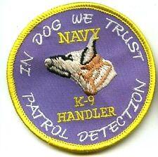 US NAVY SSBN SUBMARINE STATION PATROL DETECTION EOD K-9 HANDLER Iron-on PATCH