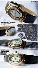 Donna Jacques Lemans OROLOGIO IN 18 CARATO vergoldt 10 Micon SWISS MADE jl-670