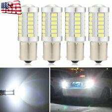 4 Pack White 1156 5630 33smd Interior Led Light Bulbs 1073 1141 6000k High Power