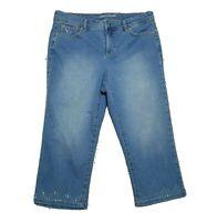 Gloria Vanderbilt Women's Denim Jean Shorts ~ Sz 6 ~ Blue ~ All Around Slimming