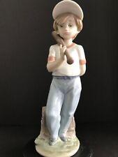 "Lladro 7610 ""Can I Play"" Baseball Figurine 1990 Collector's Society"