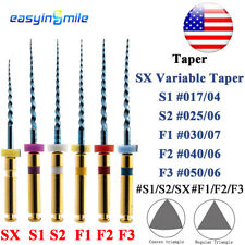 X Pro Taper Niti Engine Files Dental Flexible Endodontic Rotary Files 25mm 6pcs