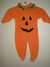 Halloween Costume 3/6 Months Baby Pumpkin Hooded Jack o Lantern EXC