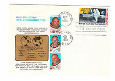 Stati Uniti FDC solo tag lettera 1969 1. spaziale dell'uomo allunaggio mi.nr.990