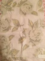 Rachel Ashwell Shabby Chic Fabric Piece LINEN Floral Remnant Yardage Sample