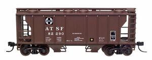 N Atlas 3157 PS-2 2 Bay Hopper  ATSF Santa Fe Rd# 82291 MT Couplers