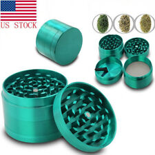 Tobacco Herb Spice Grinder 4 Piece Herbal Alloy Chromium Green Smoke Crusher