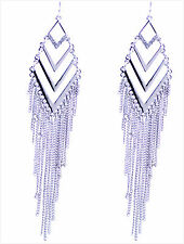 12cm Stile Egiziano Color Argento Con Nappa Lampadario Orecchini