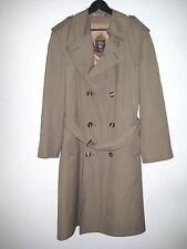 HART SCHAFFNER MARX 40s Long Over Double Breasted Rain Trench Coat Jacket