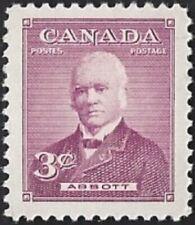 Canada  # 318   Sir John Abbott     Brand New 1952 Pristine Gum Issue
