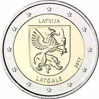Lettland 2 Euro Münze Latgale 2017 Historische Regionen Lettgallen bankfrisch