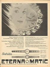 Publicité Advertising  //   ETERNA  MATIC  Sahida  montre