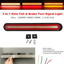 24V Flow Brake Turn Signal Driving Tail Light LED Car Truck Trailer Waterproof