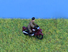 N gauge Painted 1950's Motorbike & Rider - P&D Marsh PDX75 free post F1