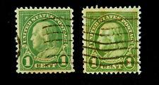 SCOTT 551/1923 1 CENT /FRANKLIN REGULAR ISSUE USED