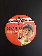 Junior Giants Stretch Drive Pin Button San Francisco Matt Cain Bobblehead