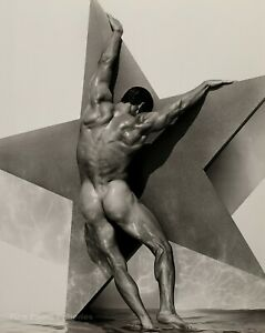 1992 Vintage HERB RITTS Male Nude Man Muscle Butt Star Photo Engraving Art 16x20