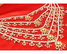 Indian Bollywood Pearl Bridal Kundan Rani Haar Necklace Set Wedding Jewelry