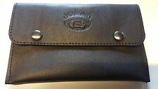 SOFT NAPPA LEATHER - JACK DANIELS Tobacco pouch - BLACK(b) - Brand New.