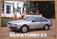 1985 NISSAN SILVIA TURBO ZX & DOHC Sales Brochure - Unread Brand New Old Stock!!