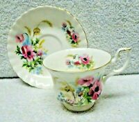 Royal Albert  Country Life  Series Harvest Poppy  Cup and Saucer