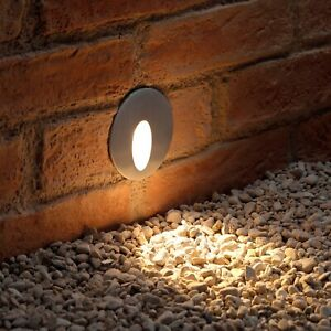 Auraglow Recessed Inset Integrated LED Marker Light Warm White Indoor/Outdoor
