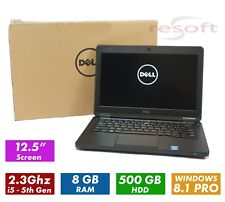 "DELL LATITUDE E5250 12.5"" Laptop - Intel I5-5200-U, 8GB, 500GB, WIN8.1P (Y46FV)"