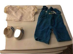 CABBAGE PATCH KIDS DOLL lot clothes Blue CORDUROY Jumper Blue white shoes