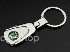 SKODA KEY CHAIN CHROME KEY RING Keychain Keyring
