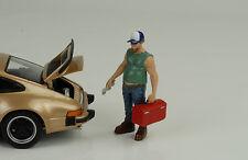 Mécanicien Musclemen Outil Box Guy Figurine 1:24 American Diorama