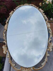 Vintage Atsonea Oval Bevelled Mirror 1950's-60s